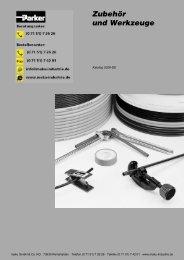 Katalog: 73-4100-8-DE Zubehör und Werkzeuge - Parker