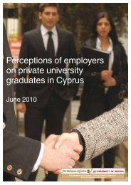report of 2010 - University of Nicosia