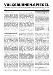 Volksbühnen-Spiegel 1/2003 - Freie Volksbühne Berlin