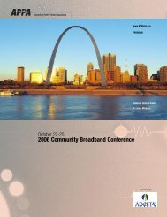 2006 Community Broadband Conference - American Public Power ...