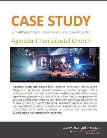 Agincourt case studies.cdr - OrangeHRM