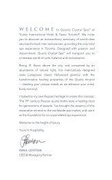 Quartz Crystal Spa™ at Trump International Hotel & Tower Toronto ...