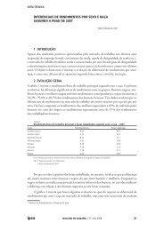 diferenciais de rendimentos por sexo e raça segundo a pnad ... - Ipea