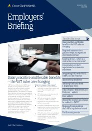 Employers' Briefing September 2011 - Crowe Horwath International