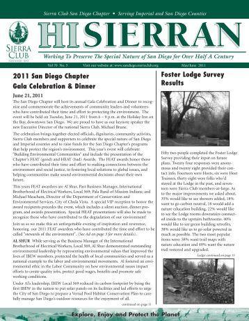 may june '11.qxd - Sierra Club: San Diego Chapter