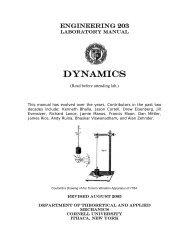 Dynamics - Andy Ruina - Cornell University