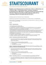 Regeling vaststelling kwalificatiedossiers 2009 - Liigl