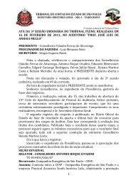 1 ata da 3ª sessão ordinária do tribunal pleno, realizada em 16 de ...