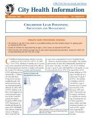 Childhood Lead Poisoning Prevention and Management - NMIC