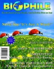 9 7 7 1 8 1 3 1 3 9 0 0 3 2 7 - Biophile Magazine
