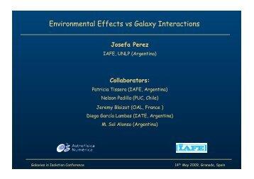 Environmental Effects vs Galaxy Interactions - AMIGA : Analysis of ...