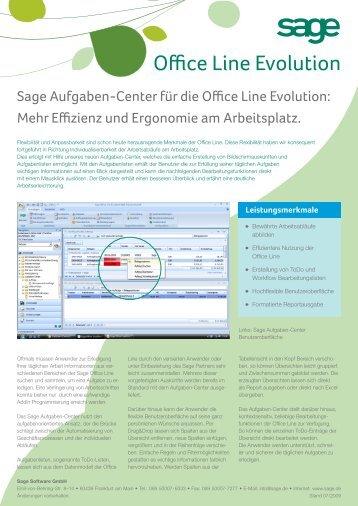 Aufgaben-Center für die Office Line Evolution - TH Software