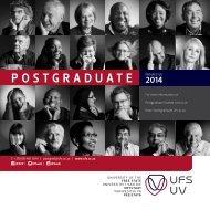 2014 Postgraduate Prospectus - Postgraduate School - University of ...