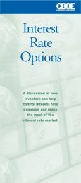 Interest Rate Options Contracts - CBOE.com