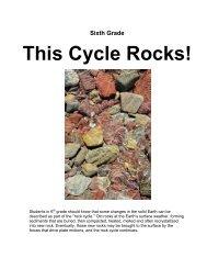 Rock Cycle - Keller ISD Schools