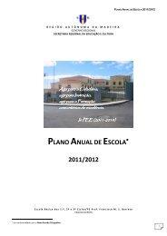 PLANO ANUAL DE ESCOLA 2011/2012 - Portal das escolas da RAM