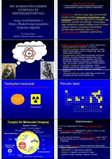 Minőségbiztosítás - Nukleáris Medicina Intézet