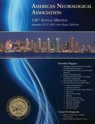 Sunday, September 25, 2011 - American Neurological Association