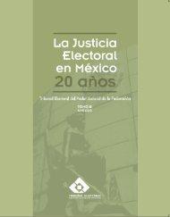 Tomo II - Tribunal Electoral del Poder Judicial de la Federación