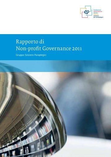Rapporto di Non-profit Governance 2011 - Orthotec