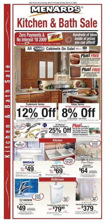 7b) March 2008 Menards Kitchen Sale
