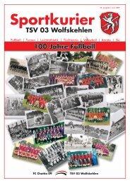 Tel. 0 61 58 - 7 13 68 Fax 0 61 58 - TSV 03 Wolfskehlen
