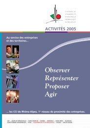 Observer Représenter Proposer Agir - Chambre de Commerce et d ...