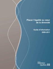 Guide d'information - Secrétariat à la condition féminine Québec