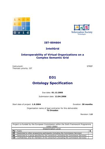 D31 Ontology Specification - SERVER-DROME