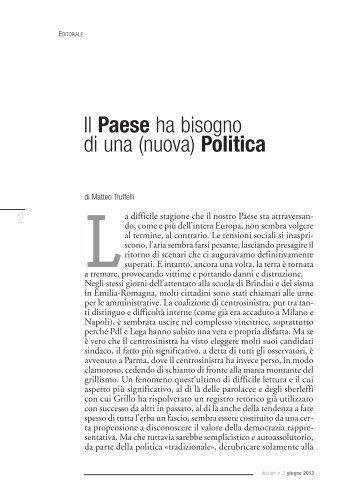 Il Paese ha bisogno di una (nuova) Politica - Azione Cattolica Italiana