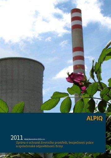 Zpráva o ochraně životního prostředí ... - Alpiq Generation