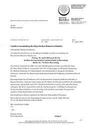 Landesversammlung des Bayerischen Bauernverbandes am 30. ...