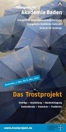 Das Trostprojekt. Vorträge — Ausstellung — Akademietagung ...