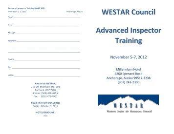 WESTAR Council Advanced Inspector Training
