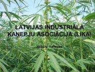 Latvijas Industriālo kaņepju asociācijas sagatavotais ziņojums