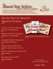 Missouri State Archives 2011 Summer Newsletter - Friends of the ...