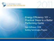 Energy Efficiency 101: Practical Steps to a Better ... - Solar Decathlon