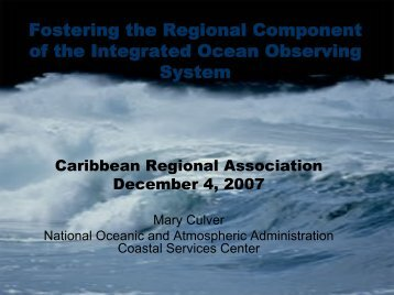 Fostering the Regional Component of the Integrated Ocean ... - CaRA