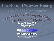 CMP Pads and Conditioners - NCCAVS - User Groups