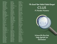 Class of 2013 - Medical Student Resources - UCLA