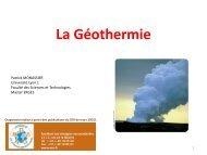 Geothermie - Patrick MONASSIER
