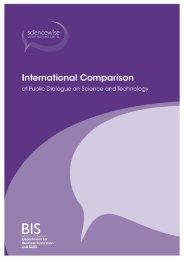 International Comparison of Public Dialogue on ... - Sciencewise-ERC