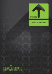 Guide to Services - Audiences NI