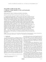 Permeability of illite-bearing shale: 2. Influence of fluid chemistry on ...