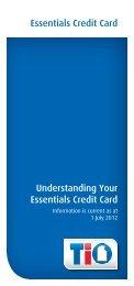 Essentials Credit Card Understanding Your Essentials Credit ... - TIO