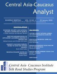 Fariz Ismailzade - The Central Asia-Caucasus Analyst