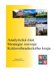 Analytická část Strategie rozvoje Královéhradeckého kraje.…