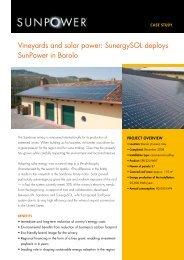 Vineyards and solar power: SunergySOL deploys SunPower in Barolo