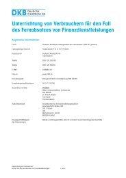 Unterrichtung von Verbrauchern für den Fall des ... - DKB