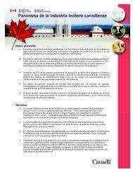 Panorama de la industria lechera canadiense - Centre canadien d ...